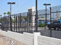 pic of Wrought Iron Fence fence  8 foot wrought iron fence
