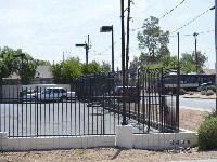 pic of 8 foot wrought iron fence